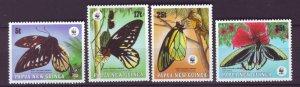 J21875 Jlstamp 1988 png set mnh #697-700 wwf butterflies