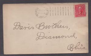 **US 20th Century Cover, Morgantown, VA 4/27/1903 CDS, No Contents