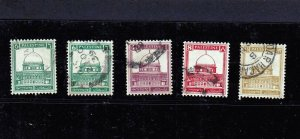 Lot of 5 Palestine (British Mandate) Stamps Issued 1927-32. Mi: 55-64