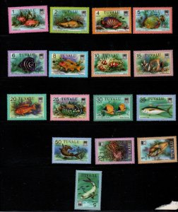 Tuvalu Sc 96//113 1979 Fish long stamp set mint NH