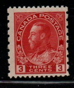 Canada Sc 184 1931 3 c G V Admiral stamp  mint NH perf 12 x 8