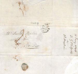 GB WALES Cardiff Llandaff DEBT RECOVERY Unpaid Printed Letter EL 1844 BS166