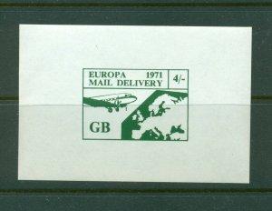 Cinderella - 1971 British Strike Mail MNH 4' Europe stamp in small sheet