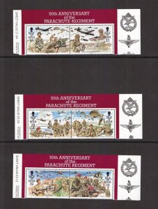 Isle of Man  #499-504  MNH 1992 parachute regiment in pairs