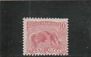 French Guiana  Scott#  56  MH  (1905 Great Anteater)