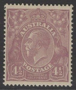 AUSTRALIA SG81 1924 4½d VIOLET MNH
