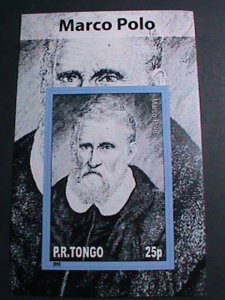 TONGA-2010 FAMOUS PERSON MARCO POLO -IMPERF: MNH S/S SHEET-VERY FINE