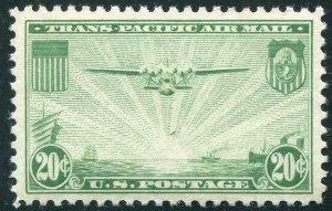 HERRICKSTAMP UNITED STATES Sc.# C21 1937 Clipper Superb NH Stamp
