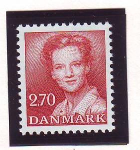 Denmark Sc 708 1984 2.7 kr red Queen stamp mint NH