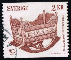 Sweden #1332 Cradle; Used (0.45)