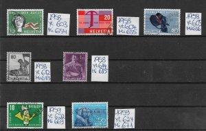 Switzerland used  1958 1959