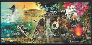 Vanuatu #757 Millennium  Souvenir Sheet  (MNH) CV $7.00