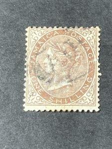 JAMAICA # 6-USED-----SINGLE---BROWN---1860-63