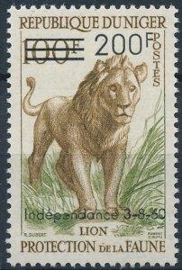 [I1649] Niger 1960 Lions Good OVERPRINTED stamp very fine MNH Value $20.40