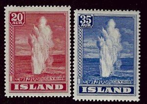 Iceland SC#204-205 Mint F-VF SCV$25.00...Worth a Close Look!