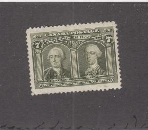 CANADA (MK801) # 100 VF-MLH  7cts  MONTCALM & WOLFE /OLIVE GREEN CAT VALUE $250