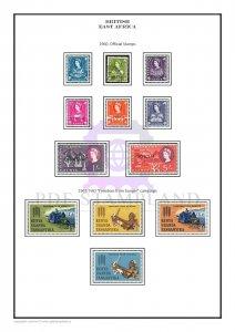 British East Africa 1922-1976  PDF (DIGITAL) STAMP  ALBUM PAGES