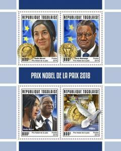 Z08 IMPERF TG190146a TOGO 2019 Nobel Peace Prize MNH ** Postfrisch