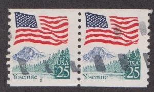 US #2280a Yosemite Flag Used PNC pair prephoshor plate #5