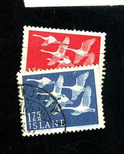 ICELAND #298-299 USED VF Cat $14