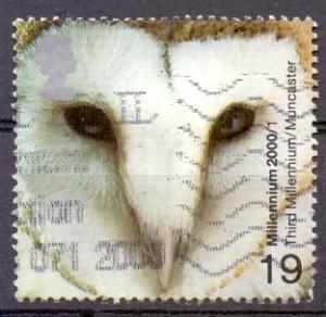 Great Britain 2000 used milennium projects 1st set 19p barn owl    #