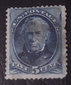 1879 AMERICAN  BANK NOTE 5 CENT TAYLOR STAMP SCOTT 185 USED
