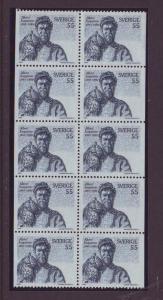 Sweden Sc820a 1969 Engstrom Owl stamp booklet pane