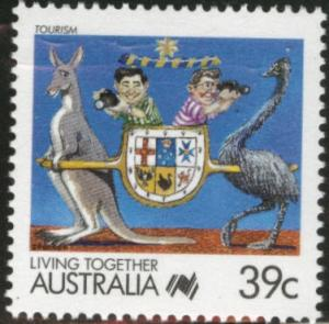AUSTRALIA Scott 1063B MNH** 1988 39c cartoon stamp