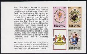 Booklet - Lesotho 1981 Royal Wedding set of 3 (plus label...