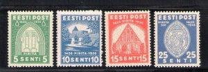 1936 Estonia - 'Cloister Santa Brigid' N°146/149 3 Values MNH