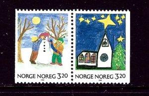 Norway 986-87 MNH 1990 Christmas Pair    (ap4047)