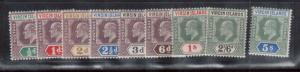 Virgin Islands #29 - #37 Mint Set
