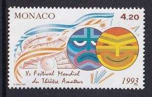 Monaco  #1849   MNH  1993   amateur theater