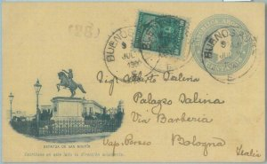85966 - ARGENTINA - POSTAL HISTORY - Picture STATIONERY CARD to ITALY 1900