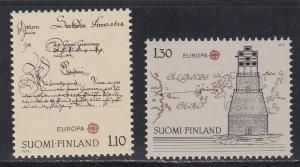 Finland # 621-622, Europa, NH, 1/2 Cat.
