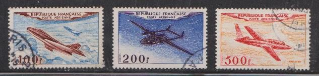 FRANCE  - Scott # C29-31 Used Airmail Stamps - Good Value