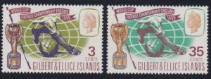 Gilbert and Ellice 125-126 MNH (1966)