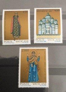 Vatican City Sc# 813-815 MNH Complete Set - 1988 Baptism of the Rus' of Kiev