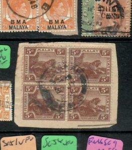 MALAYA FMS  (P0601B) 1935 5C TIGER SG 62 BL OF 4 CDS  VFU