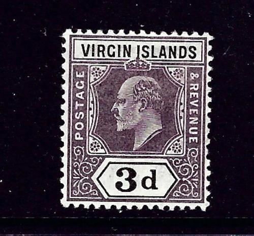 Virgin Is 33 MH 1904 KEVII issue