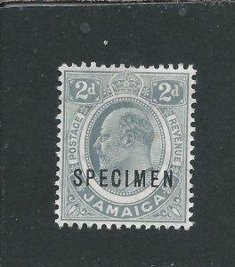 JAMAICA 1911 2d GREY OVERPRINTED SPECIMEN MM SG 57s CAT £70