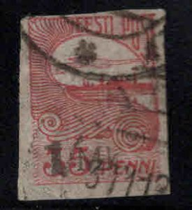 Estonia Scott 41 Used on pelure paper