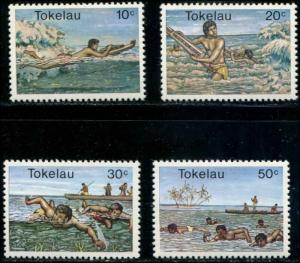 Tokekau SC# 73-8 Water Sports -Swimming set MNH