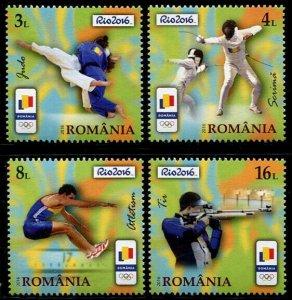 HERRICKSTAMP NEW ISSUES ROMANIA Sc.# 5824-27 Rio 2016 Olympics