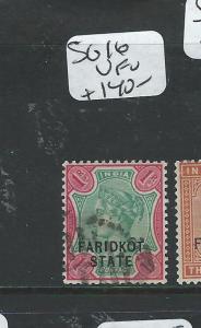 INDIA FARIDKOT (P0704BB4) QV 1R  SG 16  VFU
