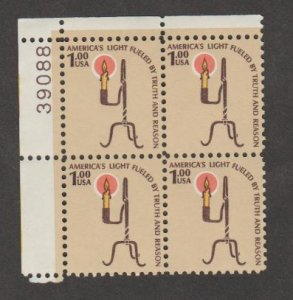 U.S. Scott #1610 Candle Light Stamp - Mint NH Plate Block