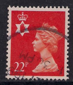 Northern Ireland GB 1990 QE2 22p Bright Orange Red SG NI 55 ( D333 )