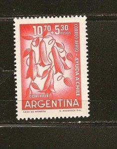 Argentina CB21 Airmail Semi Postal MNH