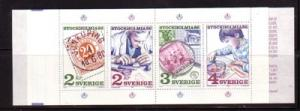 Sweden Sc 1588a 1986 Stockholmia stamp booklet NH