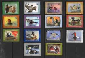 JDS10-JDS23 Junior Duck Stamps, MNH, Free Insured Shipping